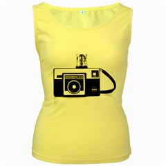 Kodak (3)cb Womens  Tank Top (Yellow)