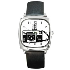 Kodak (3)cb Square Leather Watch