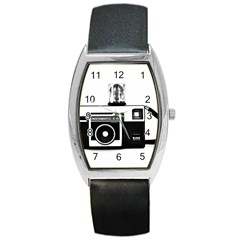 Kodak (3)cb Tonneau Leather Watch