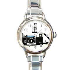 Kodak (3)c Round Italian Charm Watch