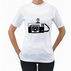 Kodak (3)c Womens  T-shirt (White)