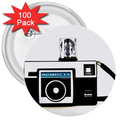 Kodak (3)c 3  Button (100 Pack)