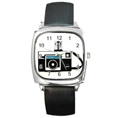 Kodak (3)c Square Leather Watch