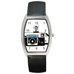 Kodak (3)c Tonneau Leather Watch