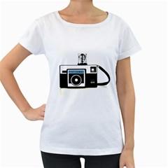 Kodak (3)c Womens' Maternity T-shirt (White)
