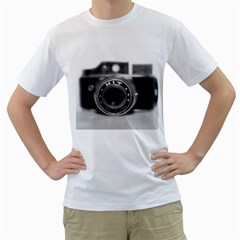 Hit Camera (2) Mens  T Shirt (white)