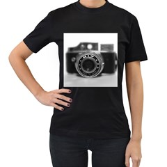Hit Camera (2) Womens' Two Sided T-shirt (Black)