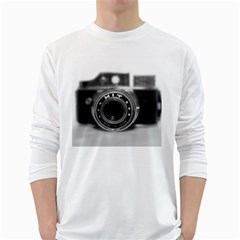 Hit Camera (2) Mens' Long Sleeve T-shirt (White)