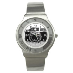 Hit Camera (2) Stainless Steel Watch (Unisex)
