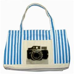 Hit Camera (2) Blue Striped Tote Bag