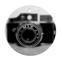 Hit Camera (2) Round Ornament (Two Sides)