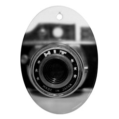 Hit Camera (2) Oval Ornament (two Sides)