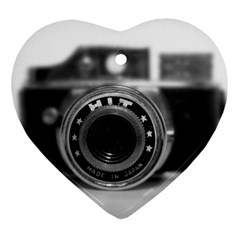 Hit Camera (2) Heart Ornament (two Sides)