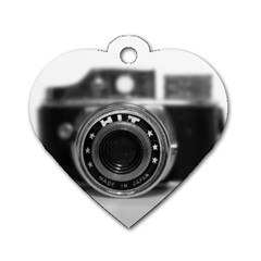 Hit Camera (2) Dog Tag Heart (One Sided)
