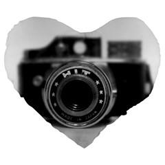 Hit Camera (2) 19  Premium Heart Shape Cushion