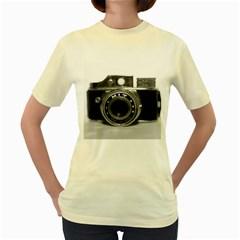 Hit Camera (3)  Womens  T Shirt (yellow)