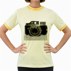 Hit Camera (3) Womens  Ringer T-shirt (Colored)