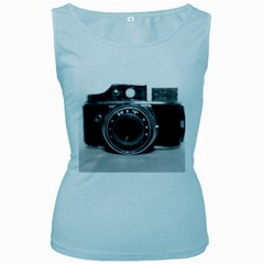 Hit Camera (3) Womens  Tank Top (Baby Blue)