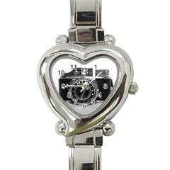 Hit Camera (3) Heart Italian Charm Watch
