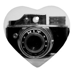 Hit Camera (3) Heart Ornament (Two Sides)