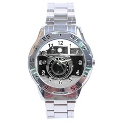 Hit Camera (3) Stainless Steel Watch (Men s)