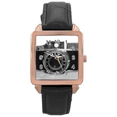 Hit Camera (3) Rose Gold Leather Watch