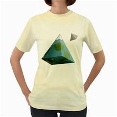 Hipster  Womens  T-shirt (Yellow)