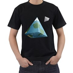 Hipster Mens' Two Sided T-shirt (Black)