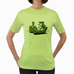 Zombie Therapy Womens  T-shirt (Green)