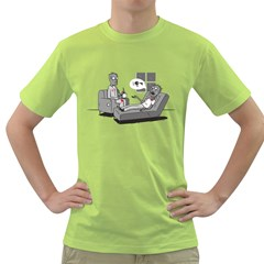 Zombie Therapy Mens  T-shirt (Green)