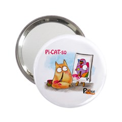 Picatso by PookieCat 2.25  Handbag Mirror