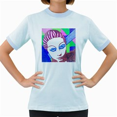 Strong Womens  Ringer T-shirt (Colored)