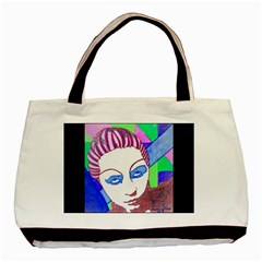 Strong Twin Sided Black Tote Bag