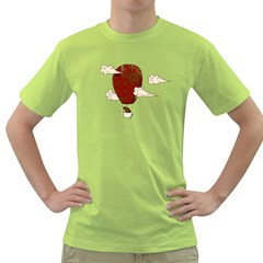 The Kiwi Learns to Fly Mens  T-shirt (Green)