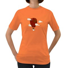 The Kiwi Learns to Fly Womens' T-shirt (Colored)