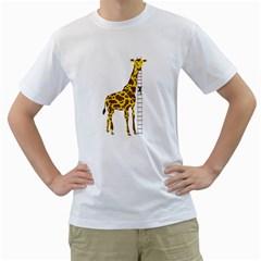 Giant Giraffe Mens  T-shirt (White)