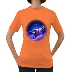Sexy Moon Girl Womens' T-shirt (Colored)