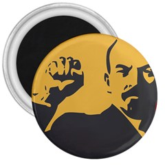 Power With Lenin 3  Button Magnet