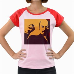 POWER WITH LENIN Women s Cap Sleeve T-Shirt (Colored)