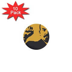 POWER WITH LENIN 1  Mini Button (10 pack)