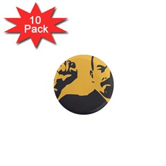 POWER WITH LENIN 1  Mini Button Magnet (10 pack)