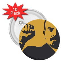 Power With Lenin 2 25  Button (10 Pack)