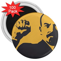POWER WITH LENIN 3  Button Magnet (100 pack)