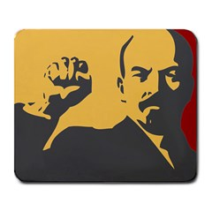 POWER WITH LENIN Large Mouse Pad (Rectangle)