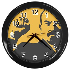 POWER WITH LENIN Wall Clock (Black)