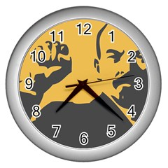 Power With Lenin Wall Clock (silver)
