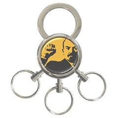 Power With Lenin 3 Ring Key Chain