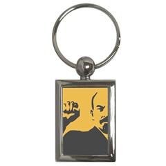 POWER WITH LENIN Key Chain (Rectangle)