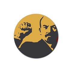 POWER WITH LENIN Drink Coaster (Round)