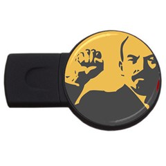 Power With Lenin 2gb Usb Flash Drive (round)